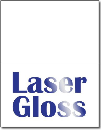 Desktop Publishing Supplies Laser Gloss Half Fold Greetin...