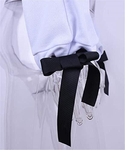 Fashion Vintage Teens Sweater Sudaderas Manga Blanco Cortas Impresa Blouse Crewneck Elegante Sudadera Larga Letra Señoras Blusas Tops FqHw54