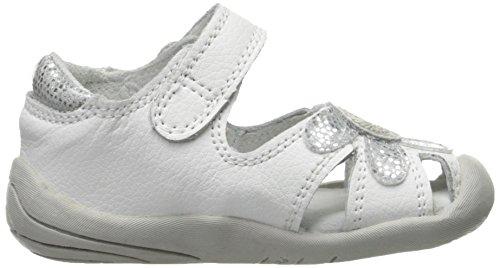 pediped Bébé Fille White Pas Silver Premiers Sandales Daisy Blanc I1qrIa