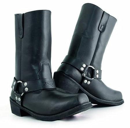 A-pro Bottes Cuir Modè le Camperos Moto Custom Homme Chaussures Chopper noir 41 5180000067892