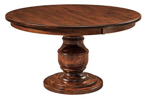 New Hickory Wholesale Amish Round Pedestal Dining Table Solid Wood 60