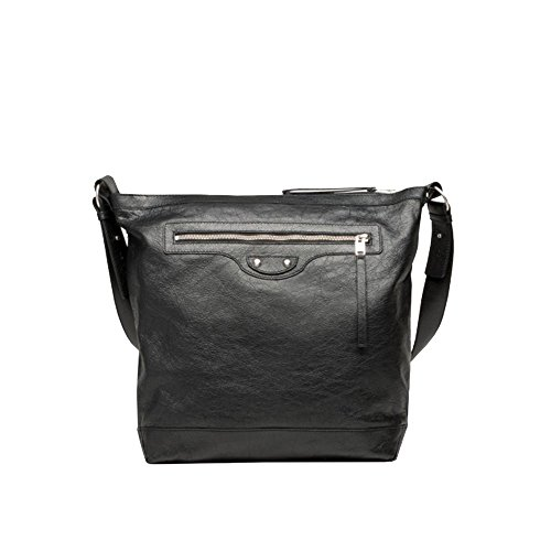 Balenciaga Arena Men's Black Leather Messenger Bag 272810 by Balenciaga
