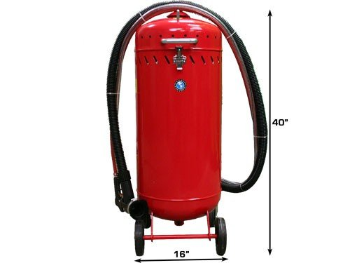 Dynamo DYOHTSB28 Roll Around Sandblaster with Vacuum (28 Gallon)