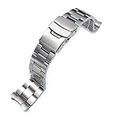 22mm Super Oyster II Watch Bracelet for Seiko Diver Skx007/009/011 Curved End from Strapcode
