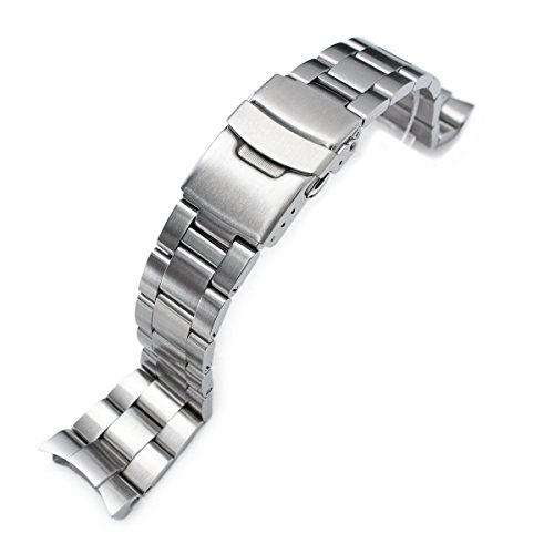 22mm Super 3D Oyster Watch Bracelet for Seiko Diver SKX007 SKX009 7002 Curved End