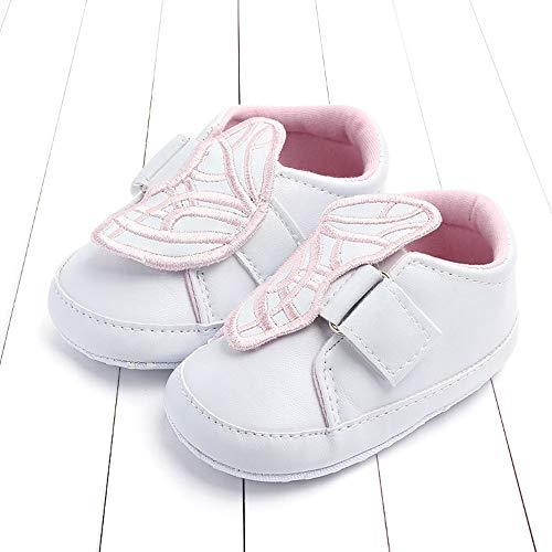 Anti Blanc Sneaker Walker Applique Chaussures Nouveau slip Premier Bébé Broderie Né Papillon Chaussures Unisexe Jimmackey BxqA44