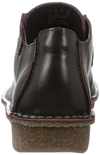 Clarks Funny Dream, Zapatos de Cordones Derby para Mujer Morado (Aubergine Lea)