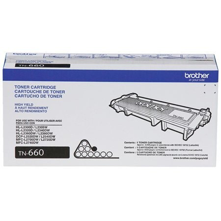 Brother L2740DW-1-High Yield Black Toner, 2000 Yield