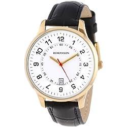 Romanson Men's TL0386MM1GA11G Modern Swiss Quartz Date Function Watch