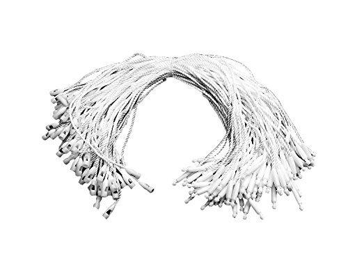 Weddecor 7  x 100 Teile schwarz Nylonschnur für Aufhängen Anhänger - Schnappverschluss Stecknadel Schlaufe Verschluss Haken Fliegen einfach und schnell zum Befestigen für - Weiß, 1000 B079W6TNHZ | Bekannt für seine schöne Qualitä