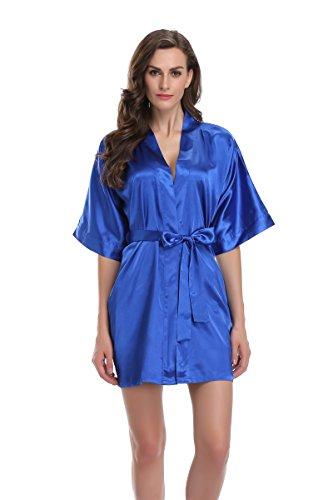 Sunnyhu Women's Pure Color Kimono Robe, Short (S, -