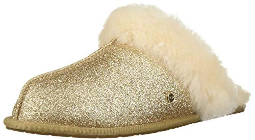 UGG Women's W Scuffette II Sparkle Slipper, Gold, 7 M US