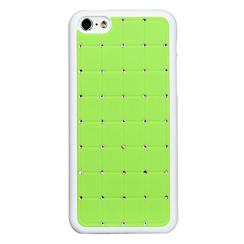 Best Style Iphone 5/5s LUXURY CRYSTAL Cross Diamond Green Case Bling Hard Cover with White Frame For APPLE Iphone 5/5s by G4GADGET®