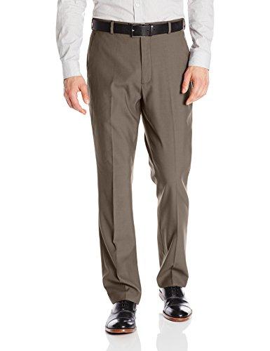 - Perry Ellis Men's Portfolio Modern Fit Flat Front Bengaline Pant, Raindrum, 34W x 30L