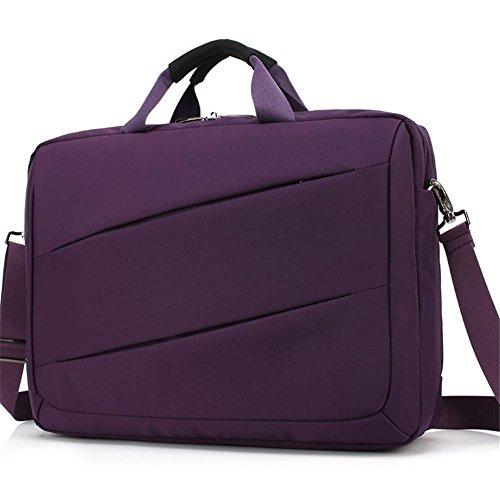 Bolso de la computadora de 17 pulgadas del negocio del bolso de hombro de la cremallera de los hombres , 17 inches purple
