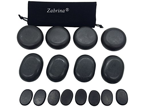 Zabrina Big Hot Stones Set Massage Stones Hot Stone Basalt Hot Rocks Stones Warm Stone Hot Stone Massage Body Massage Natural Lava Rock Basalt Stone for Professional - Great for Spas, Massage Therapy