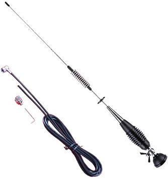 CB Antena de radio 3dbi CB125, 80 cm de altura, conector PL y 4 metros de cable, antena CB DV800