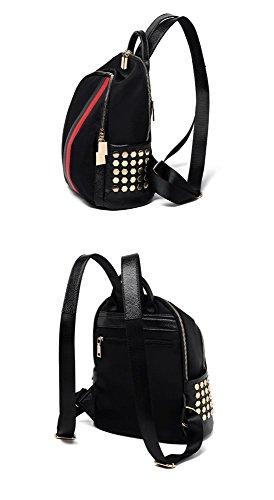 Cuir nbsp; Multi BMKWSG à Dos Poches pour Noir synthétique Uni Femme Sac Trompette 6w7CxRwq