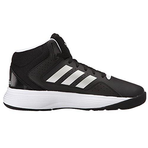 adidas Men's Cloudfoam Ilation Mid Basketball Shoes, Core Black/Matte Silver/White, ((9 W US) (New Adidas Basketball Shoes)