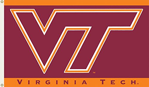 BSI Indoor Outdoor Sports Banner Virginia Tech Hokies Team Logo 3 Ft. X 5 Ft. Flag With Grommets 95011
