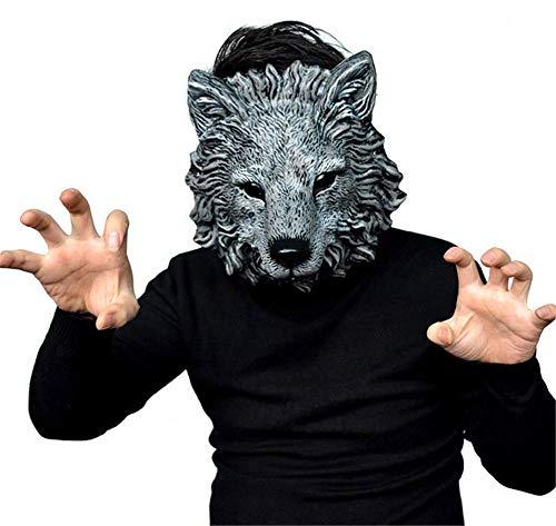 Pavian Scary Mask Halloween Werewolf Wolf Mask Animal Head Adult Costume -
