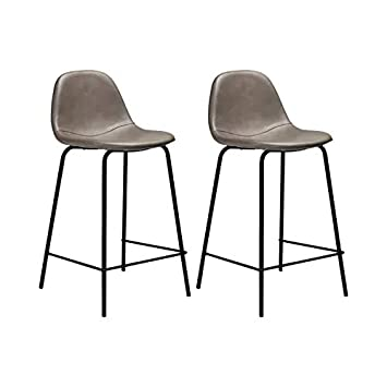 Surprising Amazon Com Rustic Modern Connor Counter Stools Pair In Inzonedesignstudio Interior Chair Design Inzonedesignstudiocom
