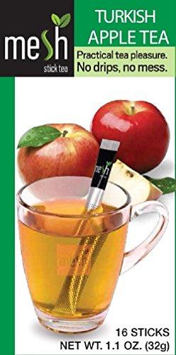 Malla Turca Te de manzana 16 Barritas - disfrutar de un Te hecho facil - Sin Bolsa, Sin Gotas, Sin Cuchara - facil de usar, natural en su sabor
