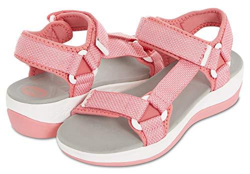 Floopi Summer Beach & Sports Sandals for Women | Multiple Adjustable Velcro Strap Design| Lightweight Outdoor, Walking, Hiking | 1.75