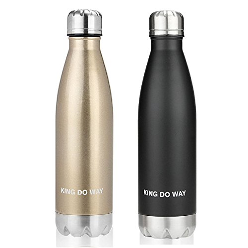 KING DO WAY 17oz Double Wall Vacuum Insulated Stainless Steel Water Bottle Perfect for Outdoor Sports Camping Hiking Cycling Picnic