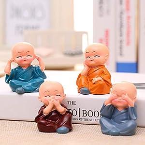Canton Polyresin Cute Baby Miniature Showpiece Multicolour, Set of 4