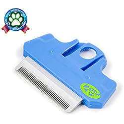 2PET Fwiper deShedding Grooming replacement Blade for FWIPER Brush. For Small Medium Dogs, Cats or Pets with Short to Medium Hair. Small 2 Inches Happy Blue