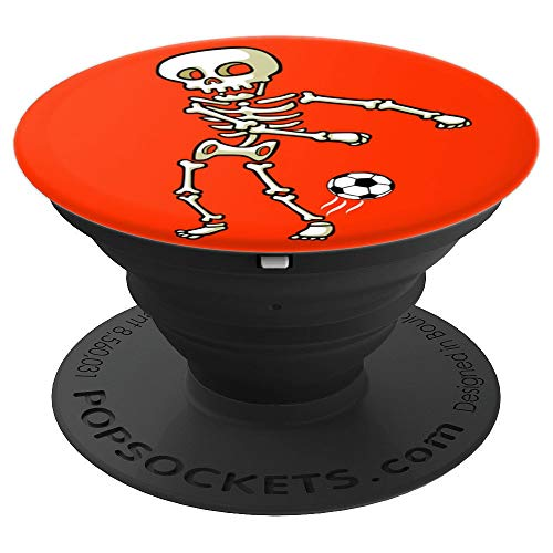 Flossing Skeleton Soccer Orange Halloween Kids Costume Dance - PopSockets Grip and Stand for Phones and Tablets