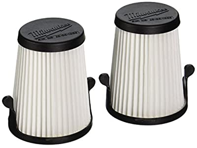 """Milwaukee Genuine OEM 49-90-1950 3"""" Replacement Dry Filters for M12 Compact Vacuum (2 Pack)"""