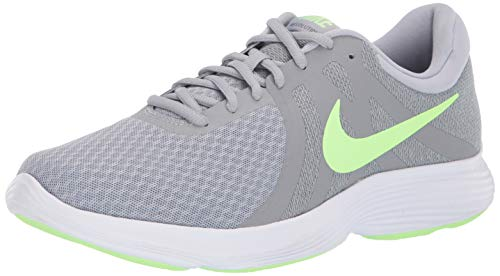 Cool Grey Apparel - Nike Men's Revolution 4 Running Shoe, Wolf Grey/Lime Blast-Cool Grey, 12