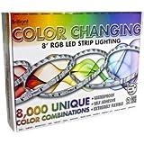 Brilliant 12 Volt SMD-5050 RGB Color Changing LED Strip Light - 8 Foot Bundle