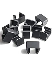 """PETKNOWS 12Pcs Patio Wicker Furniture Clips Outdoor Rattan Sectional Sofa Chairs Connector Fastener Clips (Medium:The top surface is 2.13"""" long, internal card slot length 1.65"""", width 1.18"""", height 1.18"""")"""