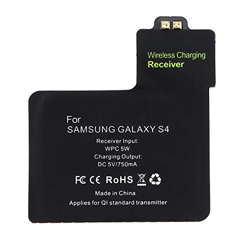 DiGiYes Wireless Charging Receiver, Universal 5V 750mA QI Wireless Charger Receiver Patch Module Chip for Samsung Galaxy S4 (Samsung Qi Wireless Charging Cover For Galaxy S4)