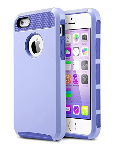 Silicone Case for iPhone 5/5S/SE (Purple) - 7