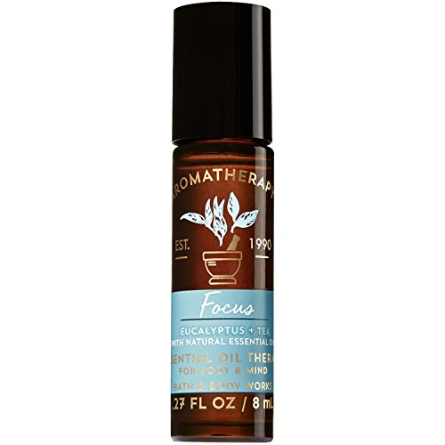 Bath and Body Works Aromatherapy Focus - Eucalyptus & Tea Essential Oil Rollerball 0.27 Fl. Oz. by Bath & Body Works