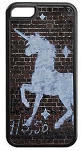 Lmf DIY phone caseWhite Unicorn Wall-Art-Graffiti- Case for the Apple iphone 5/5s- Hard Black Plastic Snap On CaseLmf DIY phone case