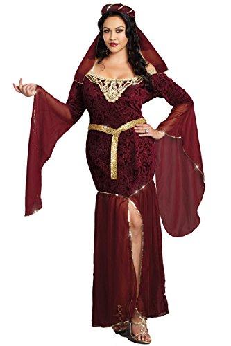 Medieval Enchantress Adult Costume - Plus Size (Medieval Enchantress Costume)