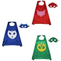 Cape & Mask Boy Girl Party Costume 3 Sets - PJ Masks