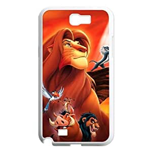 Lion King Samsung Galaxy Note 2 7100 White Cell Phone Case GSZWLW2189 Clear Cell Phone Cases