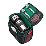 AdirChef Grab N Go Travel Pouch - Multi-Compartment for Mult-Storage Use, Perfectly Designed for AdirChef Personal Coffee Maker for Travelling, Outdoor, On the Go & Camping (Black & Green)