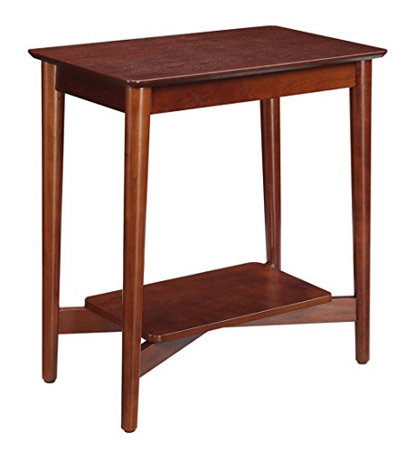Convenience Concepts Savannah Collection Chairside Table, Mahogany