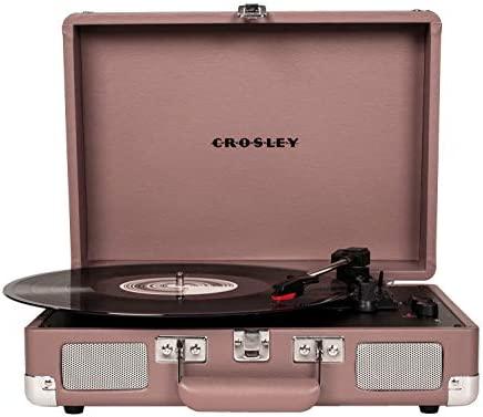 Crosley Cruiser Deluxe Vintage 3-Speed Bluetooth Suitcase Turntable, Purple Ash