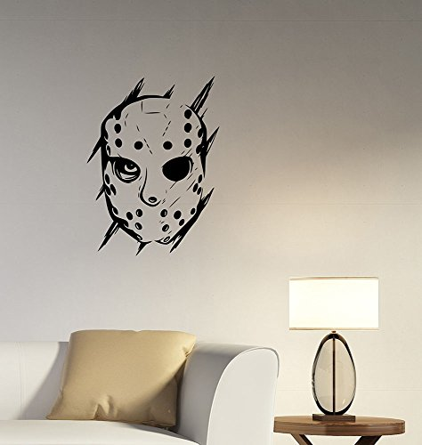Jason Voorhees Wall Decal Vinyl Sticker Movie Art Horror Decorations for Home Living Room Bedroom Decor -