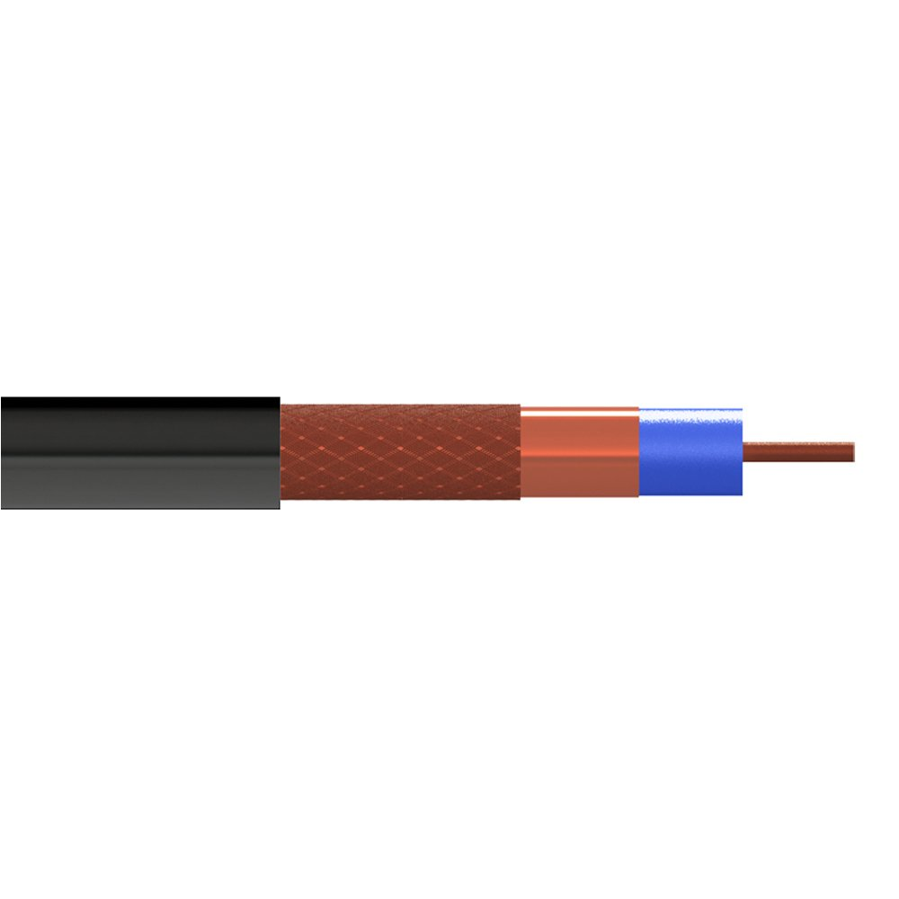 Tecatel Cable coaxial de Exterior CU,CCA en Color Negro con ...