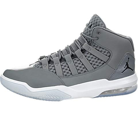 Jordan Nike Men's Max Aura Cool Grey/White/Clear/Black AQ9084-010 (Size: 12)