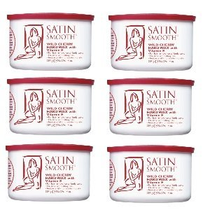 Satin Smooth Wild Cherry Wax 6 Pack by Satin Smooth